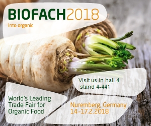 COME AND MEET US BIOFACH 2018 – NUREMBERG, GERMANY…